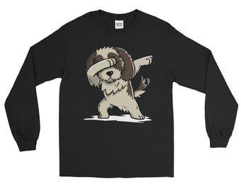 Cute Dabbing Shih Tzu Dog Long Sleeve T-Shirt Funny Dab Dance Gift