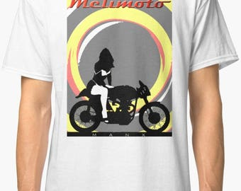 Manx Norton inspired classic retro bespoke urban Motorcycle art T-Shirt Melimoto