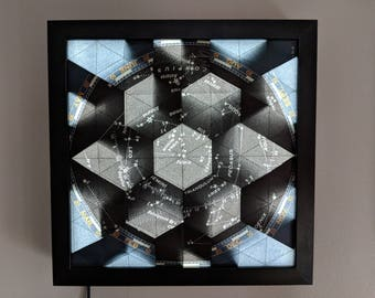 Star Map Origami Tessellation Lightbox