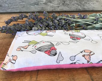Microwave Eye Pillow - Flax Seed Pad - Lavender Hot Pack - Microwavable Bean Bag - Aromatherapy Eye Pad - Heat Therapy Bag - Herbal Bag