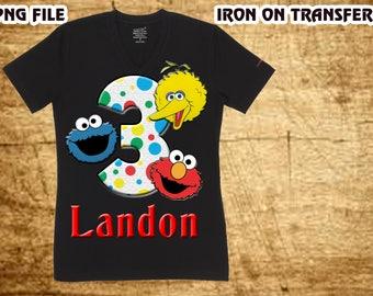 Sesame Street Iron On Transfer , Sesame Street Birthday Shirt DIY , Sesame Street Shirt DIY , Girl Birthday Shirt DIY , Digital File
