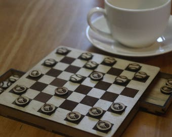 Checkers Board with storage - Sport Themes. Free Shipping!!