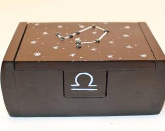 Libra zodiac constellation box