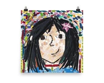 Alice's Self Portrait - Beautiful Archival Cotton Rag Fine Art Giclée Print Supporting the Nonprofit Fresh Artists