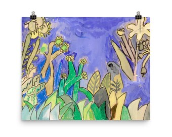 Plants by the Waters Edge - Beautiful Archival Cotton Rag Fine Art Giclée Print Supporting the Nonprofit Fresh Artists