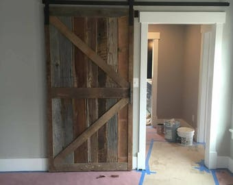 Mission Style Pine Barn Door Room Dividers Multi Colored Made
