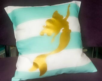 Golden Little Mermaid pillow case