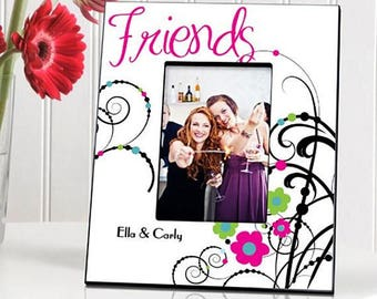 Personalized Cheerful Friendship Picture Frames - Valentine's Day Gifts - Friendship Picture Frames - Personalized Frames - Friend Gifts