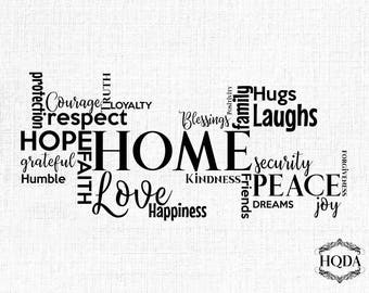 Home Decoration svg cut file Wall Print