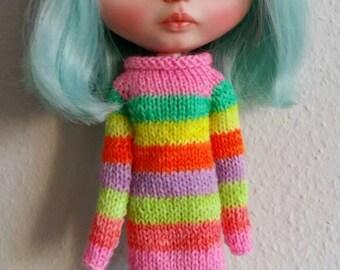Neon rainbow dress.