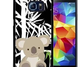 Monogrammed Rubber Case For Samsung S5, S6, S6 edge, S6 Edge Plus, S7, S7 Edge,  8, 8 plus - Cute Koala Bamboo