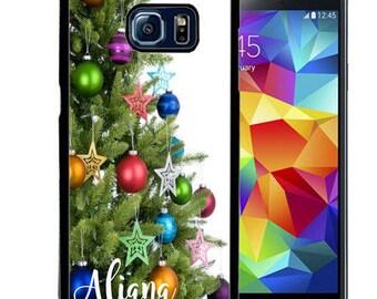 Christmas Rubber Case For Samsung S5, S6, S6 edge, S6 Edge Plus, S7, S7 Edge,  8, 8 plus -  Tree