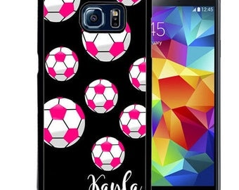 Personalized Rubber Case For Samsung S5, S6, S6 edge, S6 Edge Plus, S7, S7 Edge,  8, 8 plus -  Soccer Balls