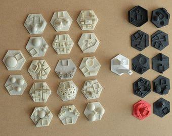 28 hexes for Terraforming Mars