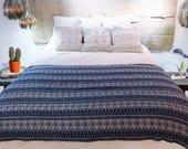 Boho Throw Blanket - Decorative Blanket - Aztec Throw Blanket - Fringed Throw - Bohemian Decor - Soft Couch Throw - Boho Picnic Blanket