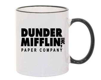 Dunder Mifflin Coffee Mug Novelty Funny Coffee Mug from The Office Dwight Schrute Michael Scott