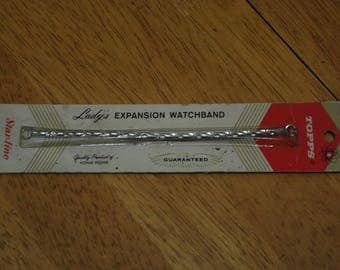 Topps/Star-Line Lady's Expansion Watchband  #859 - 5 inch Ring to Ring  clasp Old Stock New in Pack