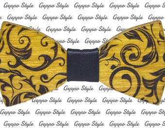 Arabesque-Bamboo Papillon-Bamboo Wood Bow Tie