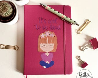 Fuchsia illustrated cover A5 notebook / pages
