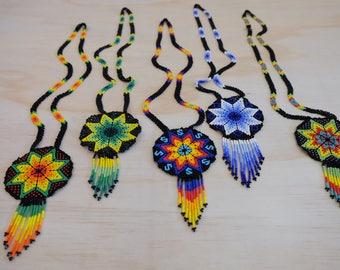 Mexican Huichol necklaces