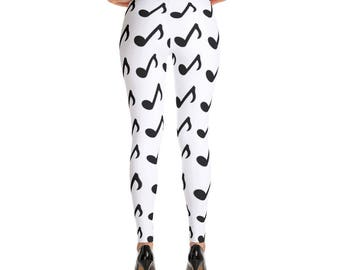 Music Notes Leggings Pants