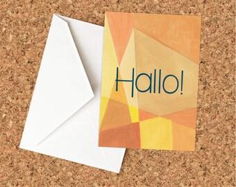 Hallo! Greeting Card - Blank