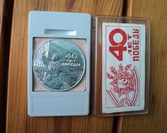 Table Medal, Memory, 40 years,  Russia Soviet Union, Collector. USSR