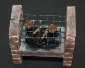 Dolls House Brick Effect Barbeque Barbecue-1:12 Scale-Miniature Garden Accessory-One Made And Ready To Go Today !