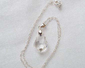 Swarovski crystal pendant and sterling silver necklace