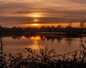 Sunset reflection.  A3 & A4 prints