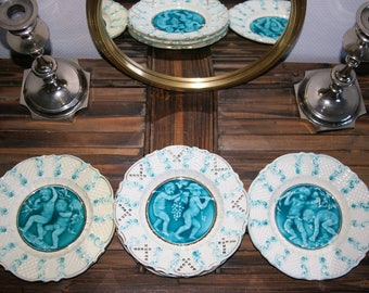 5 lace and vintage plates