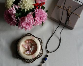 """Necklace with tassel - """"Mantra"""""""