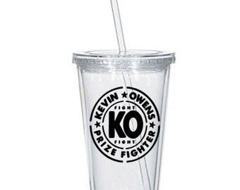 Kevin Owens WWE Wrestling Tumbler Cup Gift Home Decor Gift for Her Him Any Color Squared Circle Black Friday Christmas