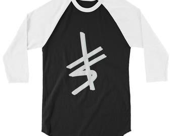 signature 3/4 sleeve raglan shirt