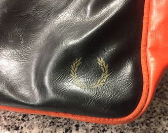 Vintage Leather Fred Perry Bag