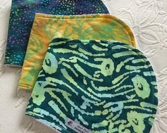Batik Print Burp Cloths