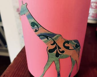 Pink Giraffe (Glittery)  Hand-Poured Soy Wax Candle