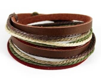 C10 Gift For Women Wrap Bracelet  Leather Bracelet Wrap Bracelet Leather Anniversary