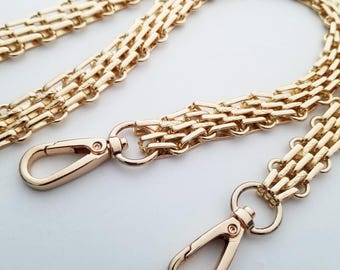 gold chain purse strap bag handbag strap handles gold handbag findings Replacement Chain Strap wholesale finished chain  width 17 mm 1pcs