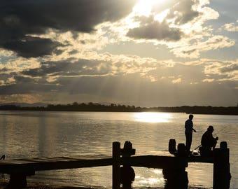Sunset Fishing - Landscape Photography - Travel Photography