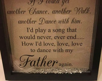 Dance with my father memorial box frame