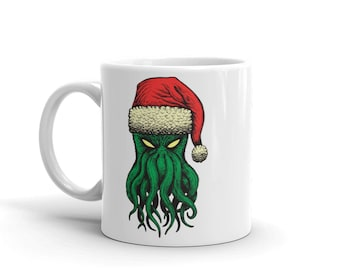 Cthanta (Cthulhu Santa) Coffee / Tea Mug - Official holiday mug of the Cthulhu cult!