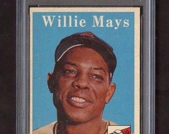 1958 Topps #5 Willie Mays PSA 5 - HOF