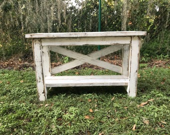 Farmhouse console table x-style - local pickup only Made to Order