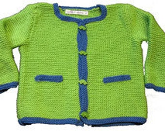 """Hand knitted Janker """"Green cars"""""""