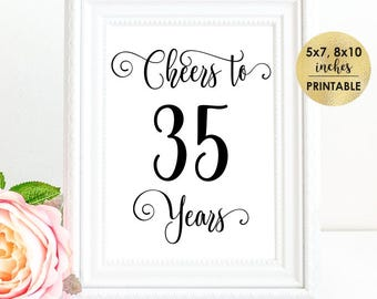 35th birthday ideas etsy for 35th birthday decoration ideas