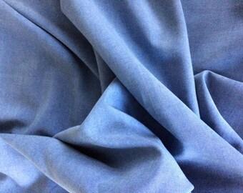 Washed blue silk fabric