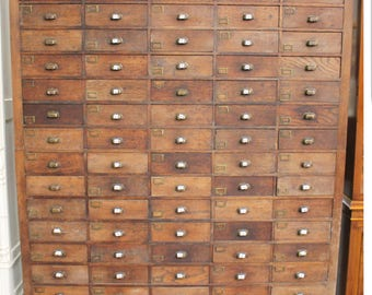 Stunning 20th century apothecary cabinet
