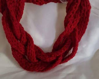 Merino wool, braided scarf