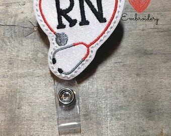 Badge ID reel, Nurse badge reel, RN badge reel, Retractable badge reel, ID holder, alligator clip badge holder, swivel retractable badge, rn